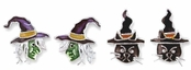 Halloween Witches Enameled Earrings