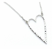 Hammered Open Heart Necklace by Baroni Designs