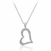 CZ Open Heart Necklace