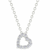 CZ Small Heart Necklace