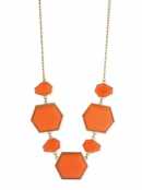 Coral Deco Stone Necklace by Zad