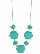 Turquoise Deco Stone Necklace by Zad