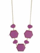 Lavender Deco Stone Necklace by Zad
