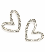Crystal Fancy Open Heart Earrings