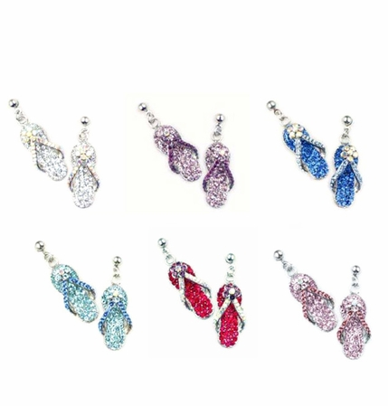 Swarovski Crystal Flip Flop Drop Earrings
