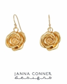 Gold Rose Earrings by Janna Conner