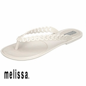 White Melissa Love Flop Sandals
