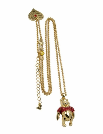 Disney Couture Winnie the Pooh Moveable Pendant Necklace