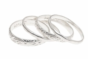 Baroni Serpent Sterling Silver Ring Set