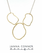 Gold Thriga Surreal Necklace by Janna Conner