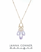 Gold Violetta Necklace by Janna Conner