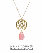 Gold Spiral Filigree Necklace by Janna Conner