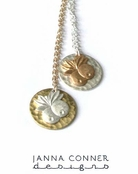 Pineapples Circle Charm Necklace by Janna Conner
