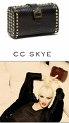 CC SKYE Black Anaconda Red Carpet Clutch