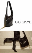Black Chain Fringe Janey Hobo Bag by CC SKYE
