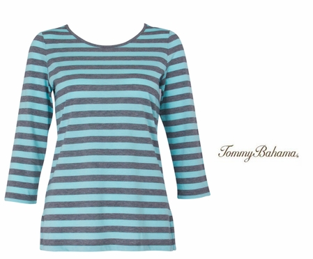 Yacht Stripe Crew Neck Top by Tommy Bahama