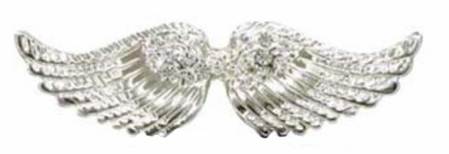 Swarovski Crystal Medium Angel Wings Brooch