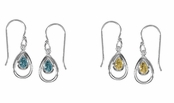 Gemstone Teardrop Earrings by Boma