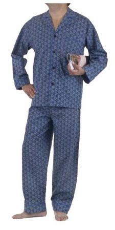 BedHead Blue Casablanca Men's Classic Pajamas