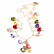Fireworks Multi CZ Necklace