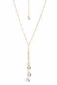 Gallant Star London Blue Topaz Multi Drops Necklace