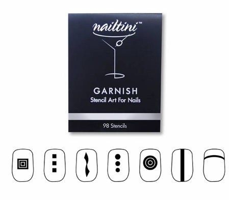 Garnish Nail Art Stencil Book by Nailtini