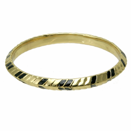 Giles &  Brother Petal Lacquer and Gold Bangle