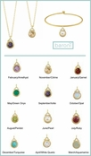 Gold Birthstone Charm by Baroni