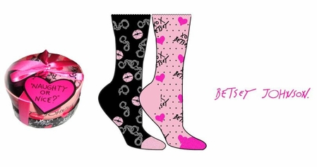 Naughty and Nice 2-Pack Crew Sock Giftset by Betsey Johnson