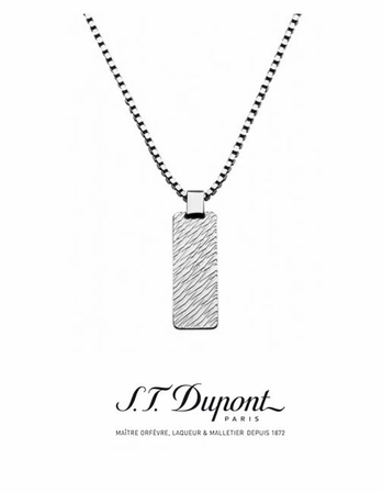 Palladium Men's Pendant Necklace by S.T. Dupont