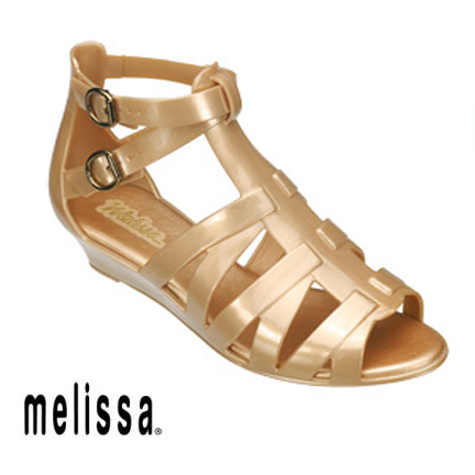 Gold Melissa Liberty Sandals