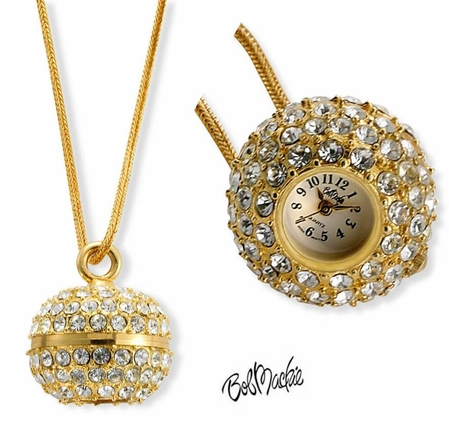 Bob Mackie Swarovski Crsytal Ball Pendant Watch by PEDRE New York