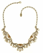 Swarovkis Crystal Triple Pear & Channels Necklace by Kenny Ma