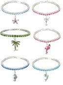 Tropical Rhinestone Stretch Anklet