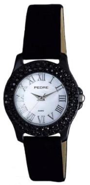 Jet Crystal Suede Band Watch