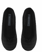 Black Cashmere Cable Ballet Slippers by Anne Klein