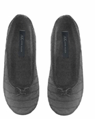 Heather Grey Cashmere Cable Ballet Slippers by Anne Klein