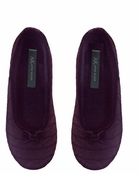 Wine Cashmere Cable Ballet Slippers by Anne Klein