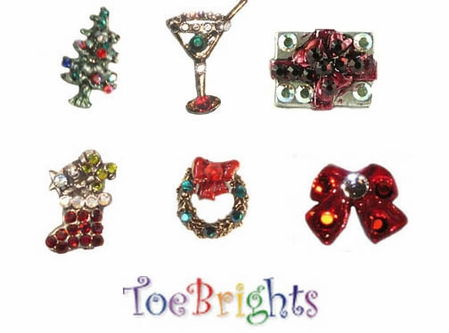 Holiday Crystal Toe Ring by Toe Brights