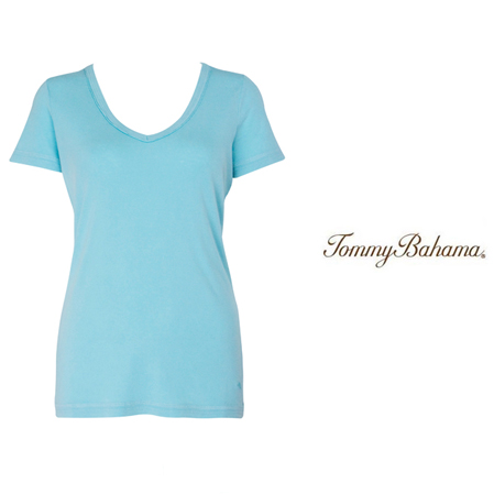 Aqua Sea Booker V Neck Tee by Tommy Bahama