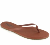 Tkees Foundations Collection  Mocha Leather Sandals