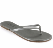 Tkees Shadows Collection Frosty Grey Leather Sandals