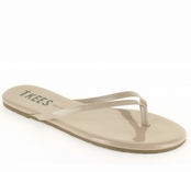 Tkees Glosses Collection Champagne Leather Sandals
