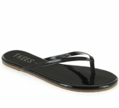 Tkees Glosses Collection Licorice Leather Sandals