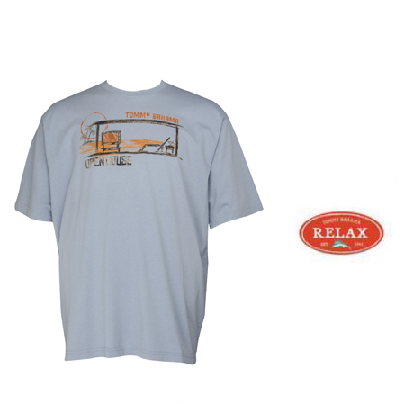 Atmosphere Blue Open House Tee by Tommy Bahama