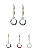 Baked Beads Crystal Circle Drop Earrings