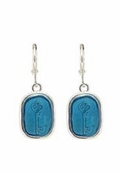 Baked Beads Turquoise Key Drop Earrings