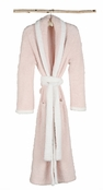 Barefoot Dreams� Pink White CozyChic� Contrast Trim Robe