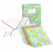 Lilly Pulitzer Note Card Book - Crabtastic Blue