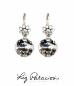 Flores Swarovski Crystal Cushion Dangling Earrings by Liz Palacios